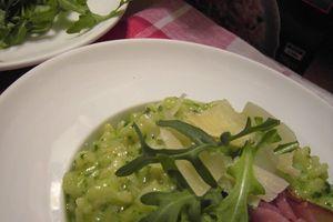 Risotto au Pesto de Roquette ou (comment s'occuper d'un sachet de Roquette ?)