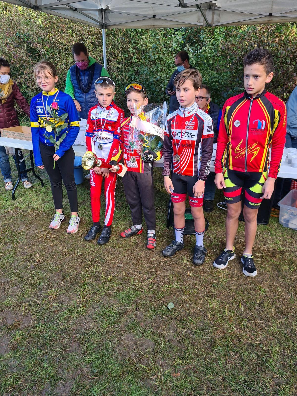 Victoires de Mahel et de Mattis au cyclo-cross de Champlan (91)