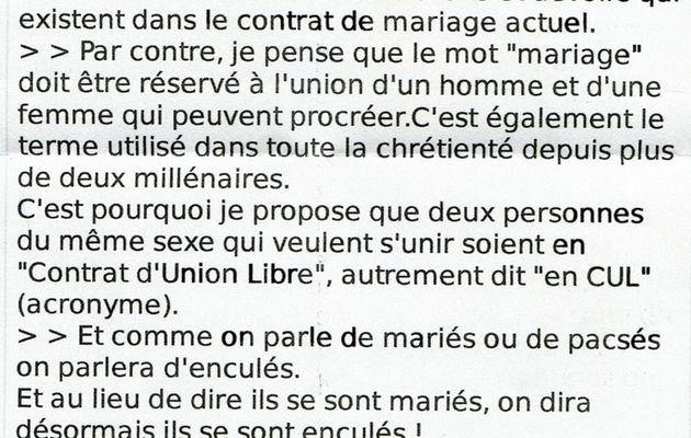 Homophobie ... suite