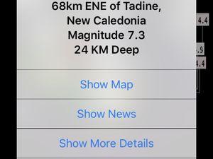 Séisme de magnitude 7.3 en Nouvelle-Calédonie