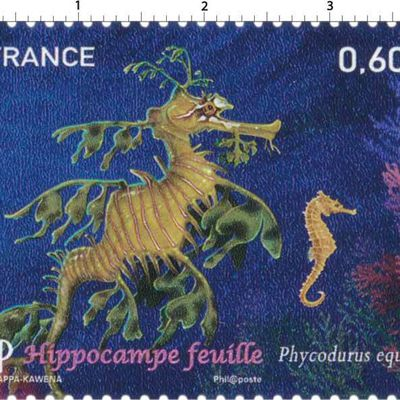 Timbre hippocampe France 2012