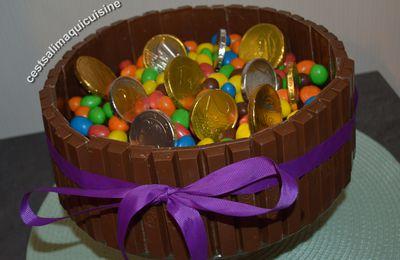 Gâteau au chocolat aux kit-kat et M&M's