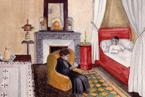 """""""Maman s'assit à côté de mon lit ; elle avait pris François le Champi""""..."""