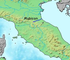11 janvier -49  ̶  Jules César franchit le Rubicon