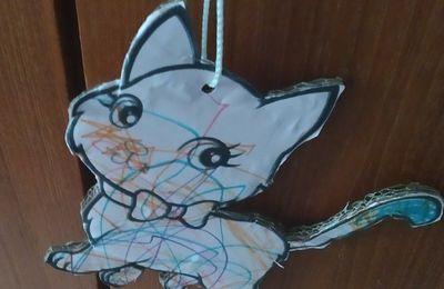Petit chat de Chloé plastifié