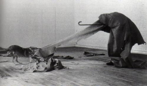 Coyote: I Like America and America Likes Me @ Joseph Beuys. 1974. Block Galery. NYC