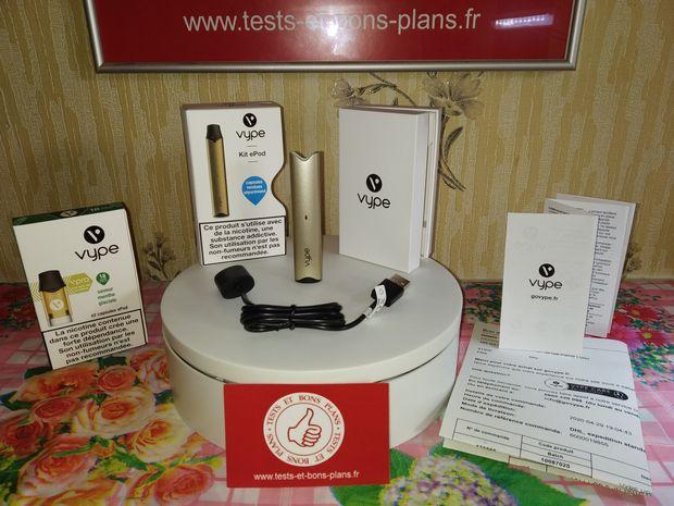 unboxing de la cigarette électronique Vype ePod et des capsules de e-liquide Vype @ Tests et Bons Plans