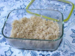 Flan de quinoa, courgettes et chorizo