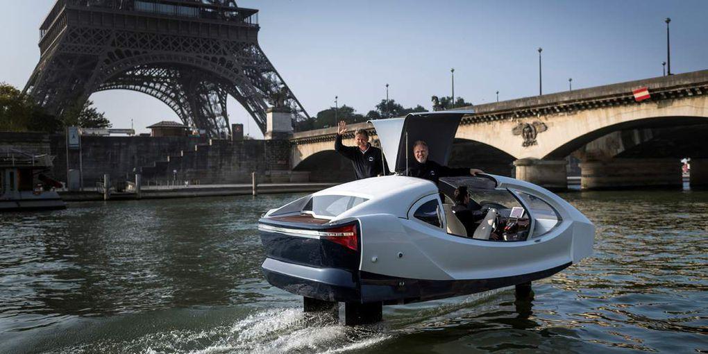 Les essais des Sea Bubbles ont repris à Paris cette semaine!