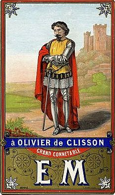 GENEALOGIE : OLIVIER IV DE CLISSON, CONNETABLE DE FRANCE, ASSASSINE SUR ORDRE DE PIERRE DE CRAON...