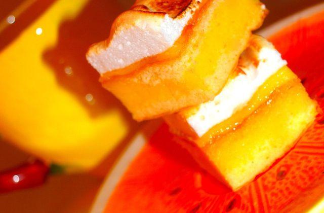 Carrés meringués au citron