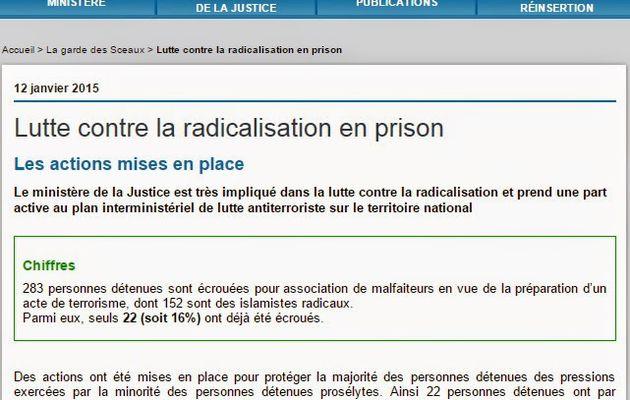 Islamistes Radicaux incarcérés : vers une Guantanamisation des prisons françaises