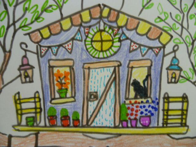 suite des activités cycle 3: carte de voeux bougie, cocottes marionnettes, angry bird et souris marionnettes, personnage-pull, maison dans les arbres (aprés jeu d'observation village bd), coloriage visages d'enfants style carnaval + carte fenêtre