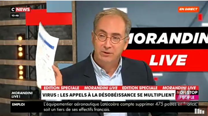 """Le Dr Toubiana déchire en direct dans Morandini Live les chiffres de la contamination : """"Ca ne veut rien dire, il n'y aura pas de seconde vague !"""""""