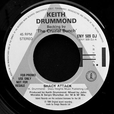 Keith Drummond backing by The Cruzial Bunch - 1984