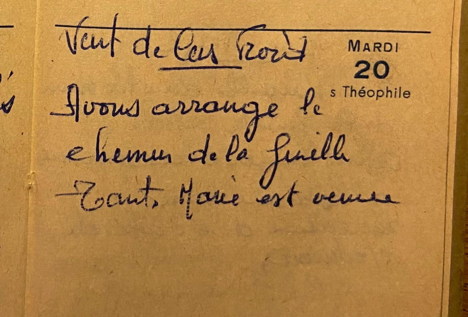 Mardi 20 décembre 1960 - arranger le chemin