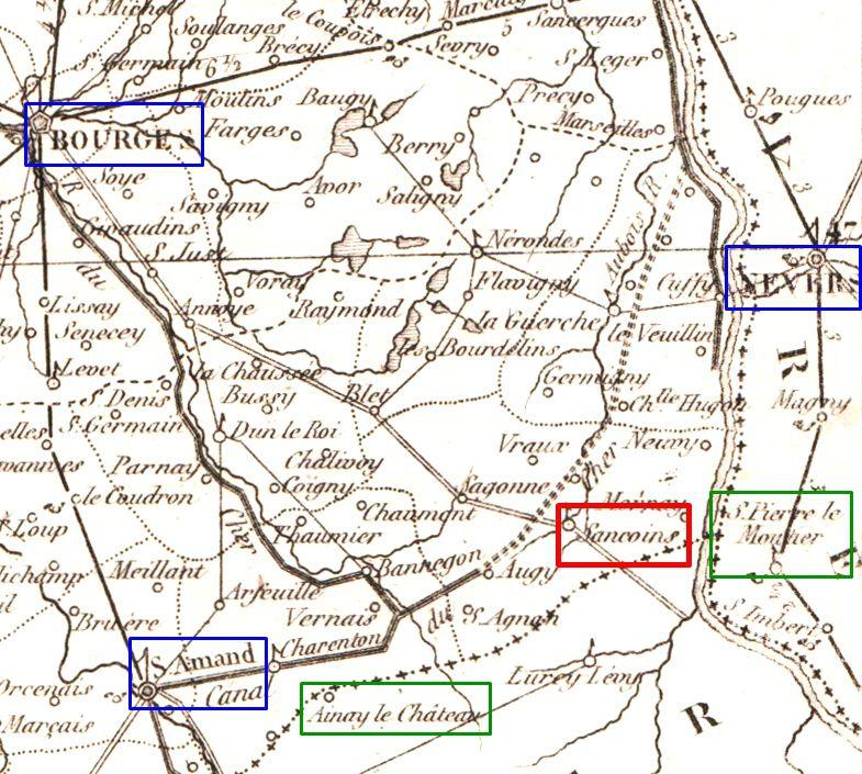 – Entre les départements du Cher, de l'Allier, de la Nièvre… quelques repères géographiques.