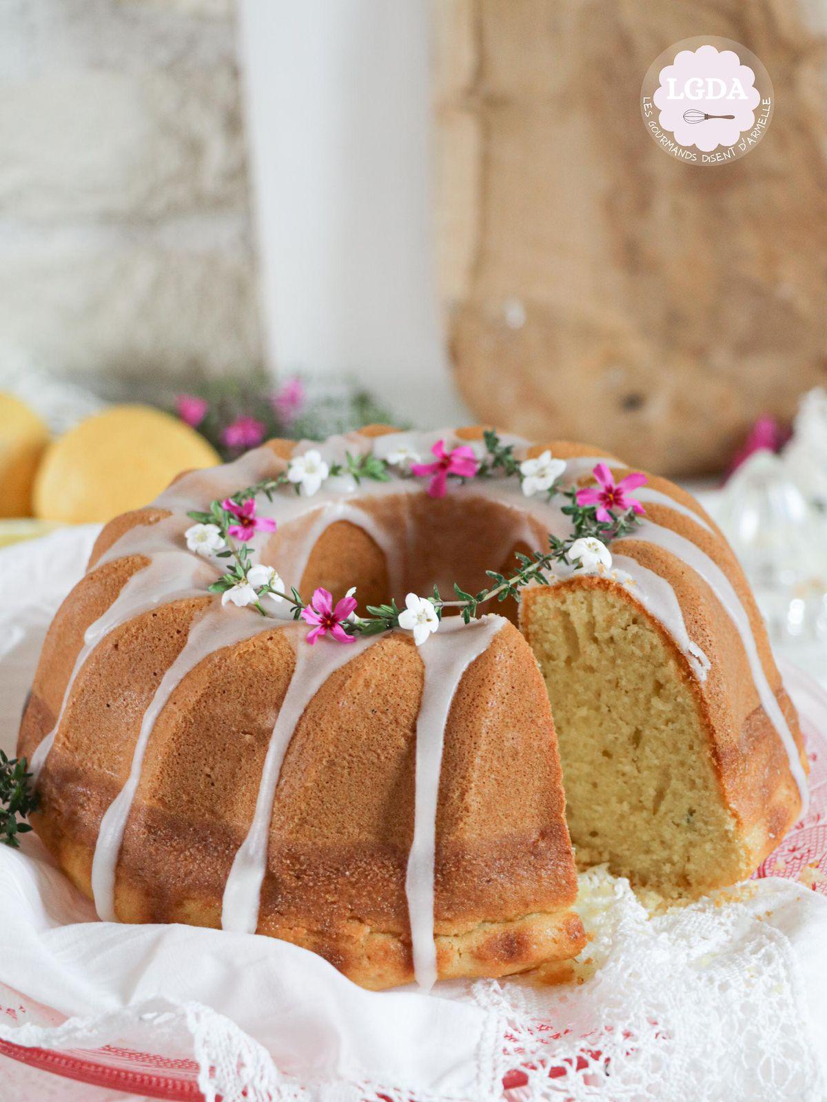 Gâteau au citron, thym et huile d'olive @ Les Gourmands {disent} d'Armelle