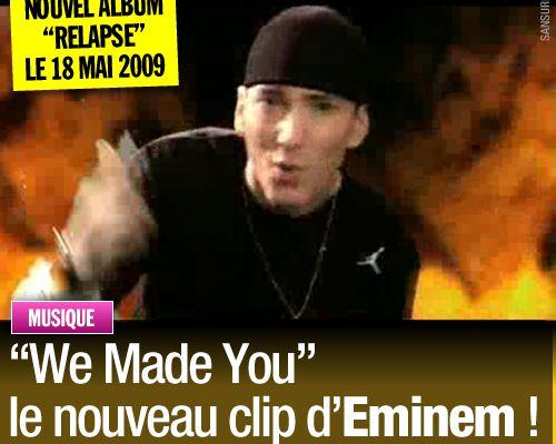 """""""We Made You"""" le nouveau clip d'Eminem !"""