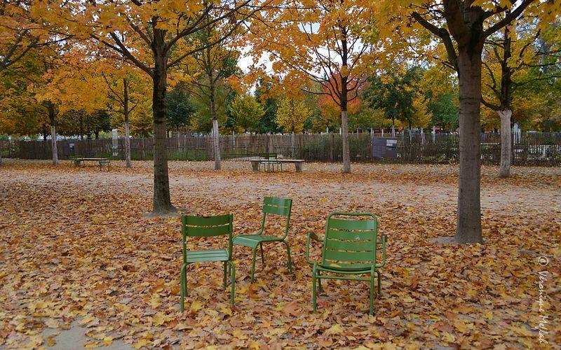 Au jardin des Tuileries ...