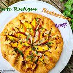 Tarte rustique aux Nectarines et à L'hysope