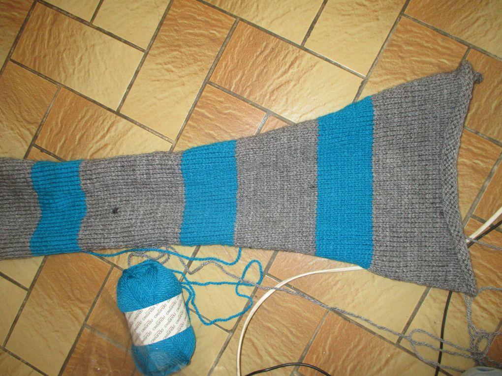 Un coussin tricoté