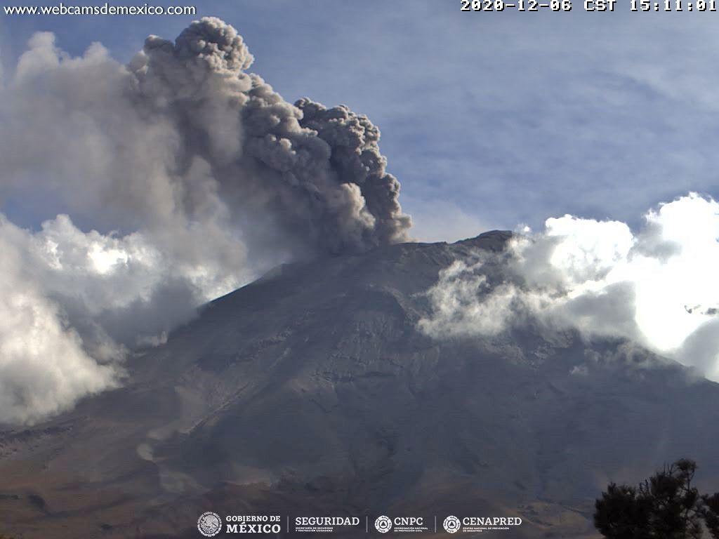 Popocatépetl - 12/06/2020 / 3:11 p.m. - WebcamsdeMexico