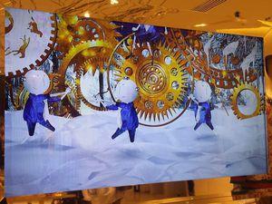 Le conte de Noël apparaît sur les écrans du Printemps Haussmann