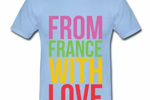 T shirt France from france with love HBC