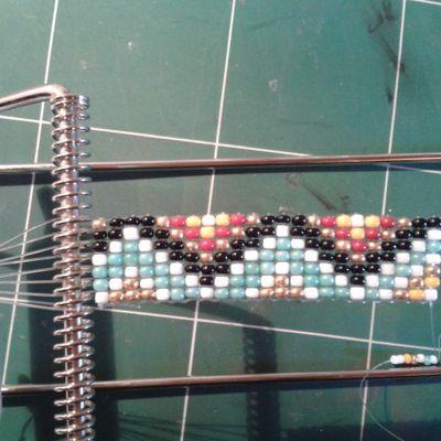 Le tissage de perles j'adore!!!