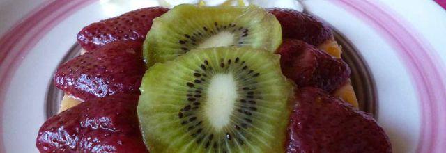 génoise fine et allégée aux 3 fruits