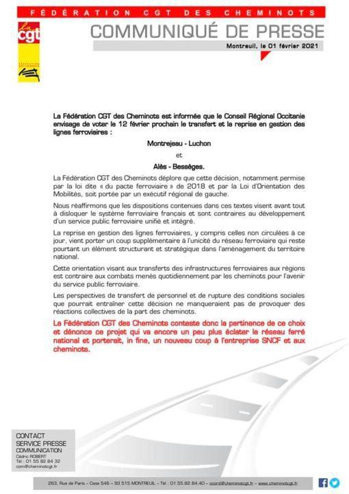 Quand la région Occitanie veut casser le rail public