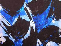 Françoise Fourcault, peintures 2013, la couleur du noir.