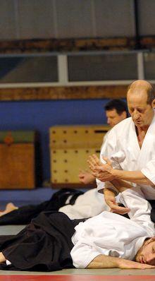 Hervé Dizien à l'Aïki Taïkaï et la NAMT10