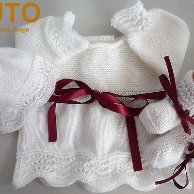 Tutoriel layettes tricot laine bébé fait main