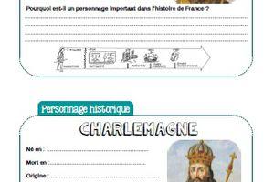 Fiche personnage historique : Charlemagne - CM1-CM2