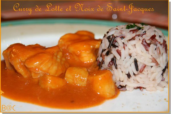 Curry de lotte et Saint-Jacques