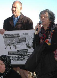 Forum du 20 janvier 2012 à Grasse Intervention de Annie, membre du Comité de soutien à Hakim Ajimi