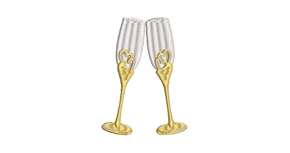 BRODERIE FLUTES CHAMPAGNE