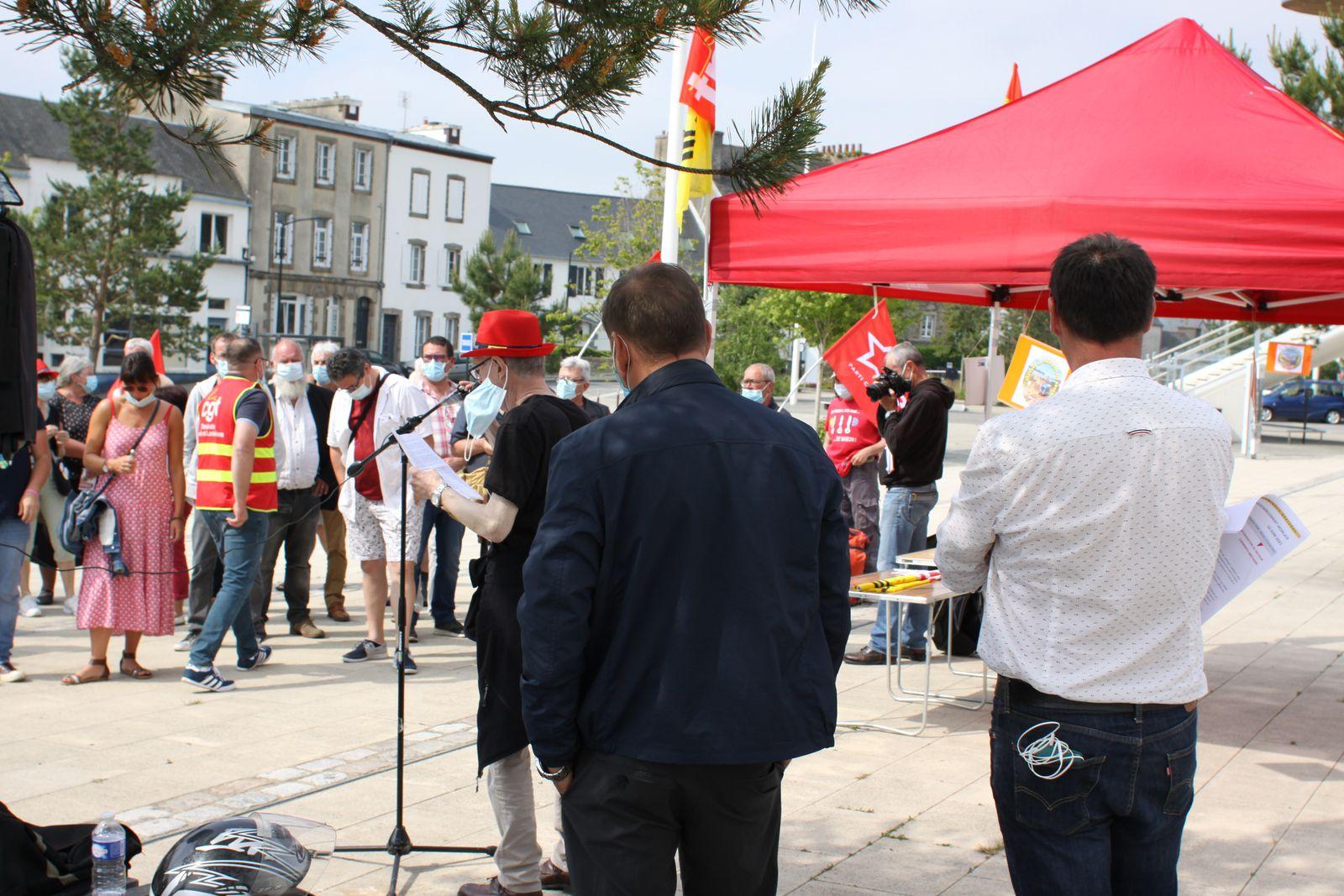 16 juin 2021 - Gare de Morlaix, manifestation pour la ligne Morlaix-Roscoff et la défense des lignes ferroviaires de proximité (photos Jean-Luc Le Calvez)