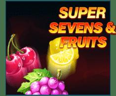 machine a sous Super Sevens & Fruits logiciel Playson