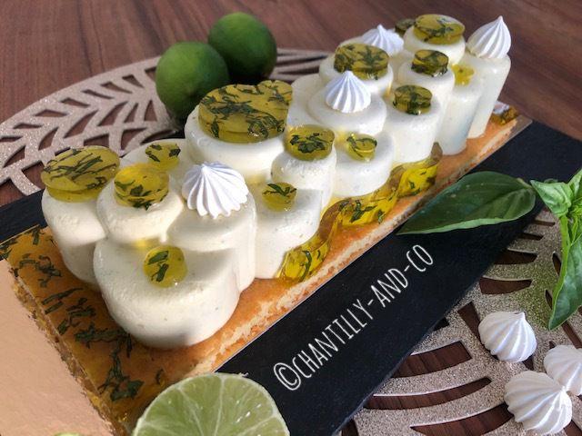 Parfait citron vert basilic