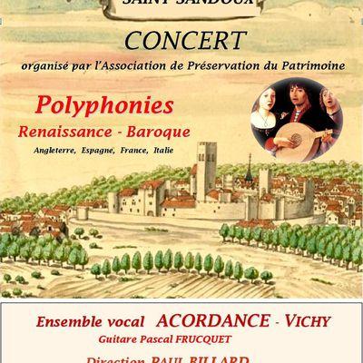 Concert à Saint-Sandoux le 13 Septembre 2014 à 20H30