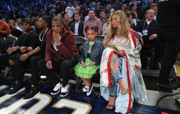 Quand Beyoncé et Jay-Z débarquent au All-Star Game en compagnie de leur fille