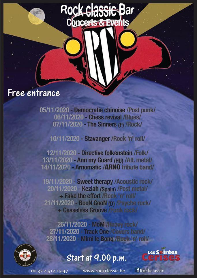 🎵 Rock Classic - Programmation du mois de novembre - annulé
