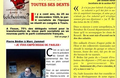 Mantes-la-Jolie. L'opinion des communistes 1° trimestre 2021