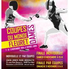 Coupe du Monde Fleuret dames à Saint-Maur les 7,8,9 novembre