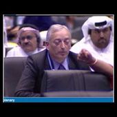 Lord Monckton at Doha climate talks pretending to be Myanmar, He was later ejected