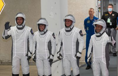 US Florida: 23th April 2021, the astronaut, Thomas Pesquet fly for a trip of 6 months in space