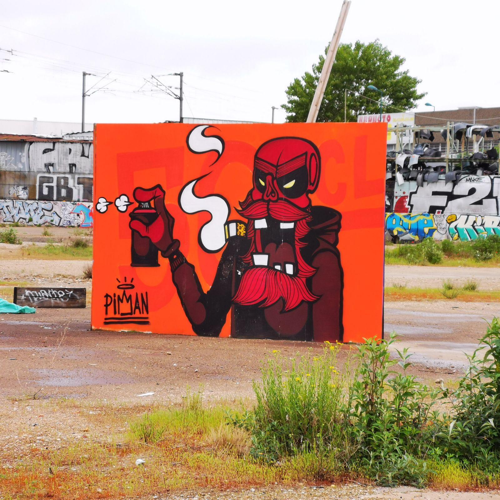 Street art dans une friche à Gennevilliers